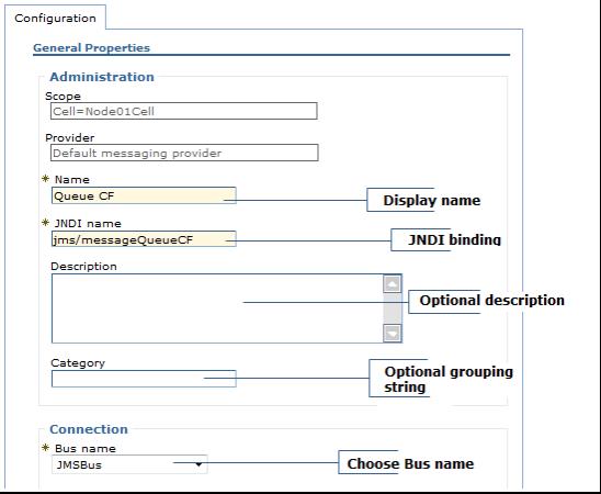 configure jms connection factory websphere broker